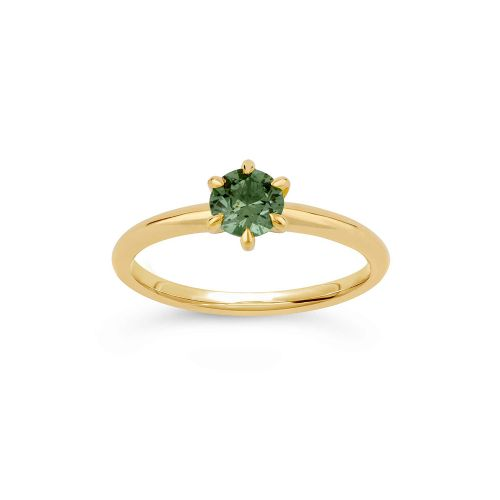 Miss Lily 18K Gold Green Sapphire  Ring
