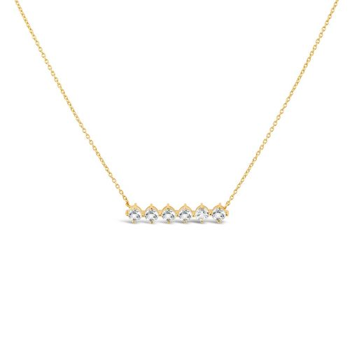 Gem Drop Bar Necklace