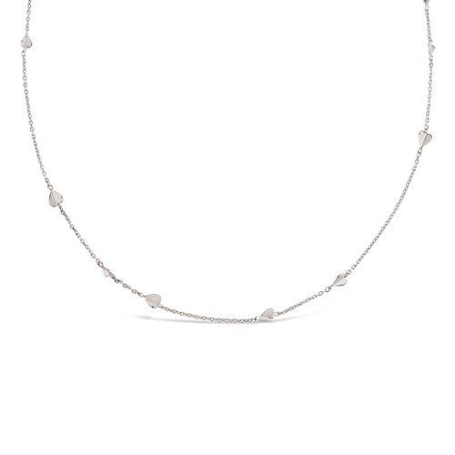 Bijou Folded Heart Chain Necklace