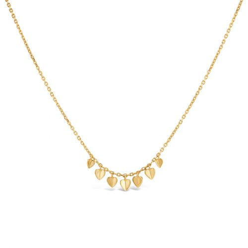 Bijou Folded Heart Necklace