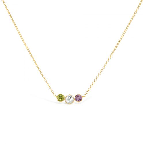 Suffragette Three Stone Scoop Necklace