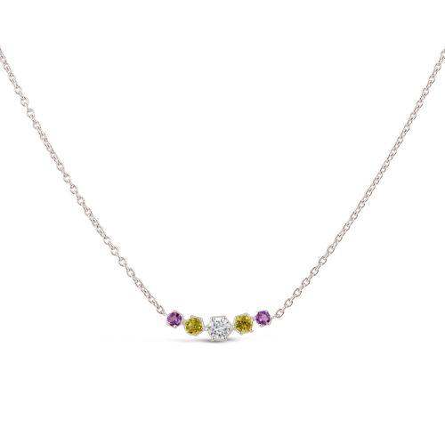 Suffragette Five Stone Scoop Necklace