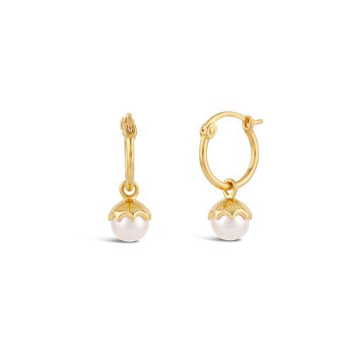 Gem Drop Small Freshwater Pearl Hoop Earring