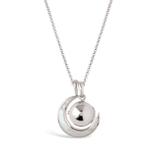 My World Small Orb Locket & Moon Charm Pendant