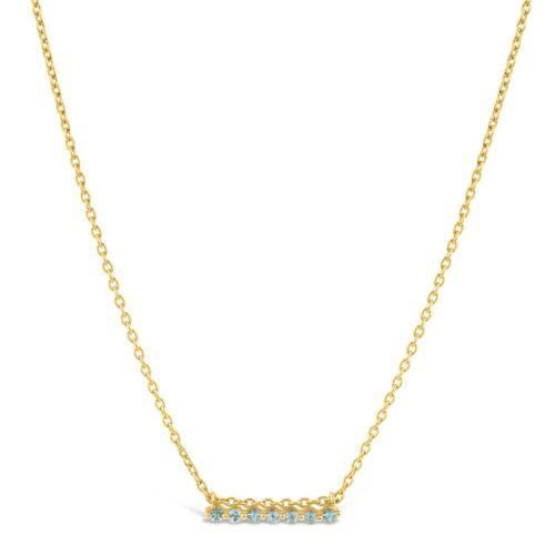 22k Yellow Gold Vermeil Shuga Bar Necklace