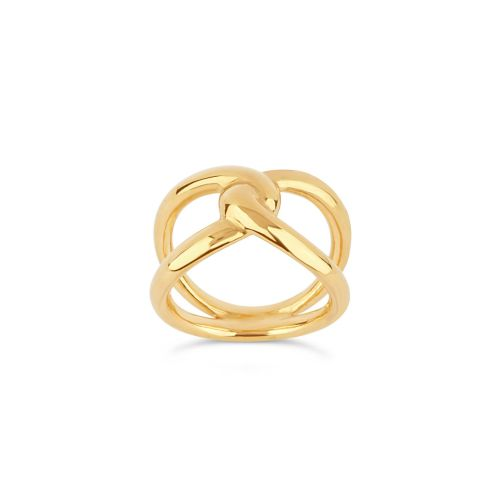 Twist Open Ring in 22k Yellow Gold Vermeil