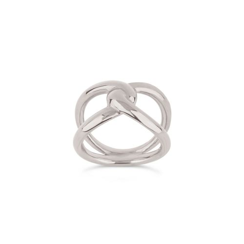 Twist Open Ring in Sterling Silver