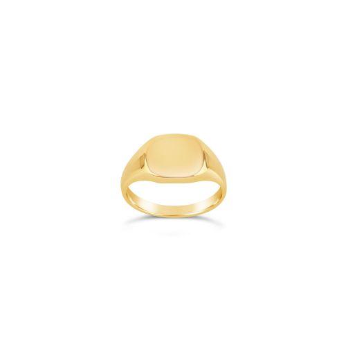Signet pinky Cushion ring