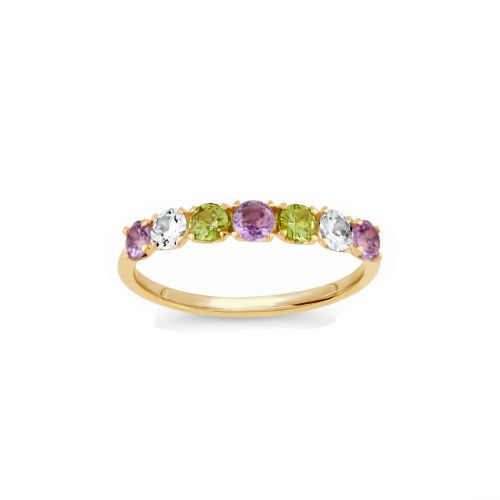 Suffragette Primrose Half Eternity Ring