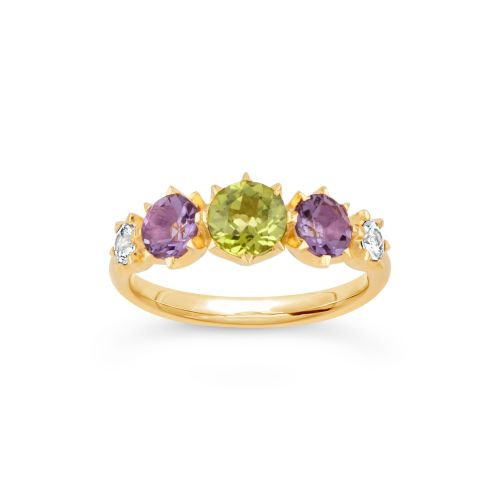 Suffragette Evie Five Stone Tapering Ring