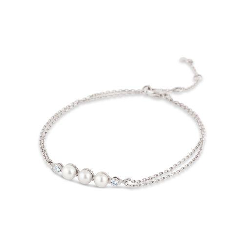Shuga 14k Gold Pearl And Diamond Wristlet