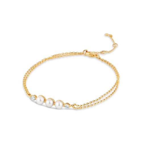 Shuga 14k Gold Pearl And Diamond Wristlet