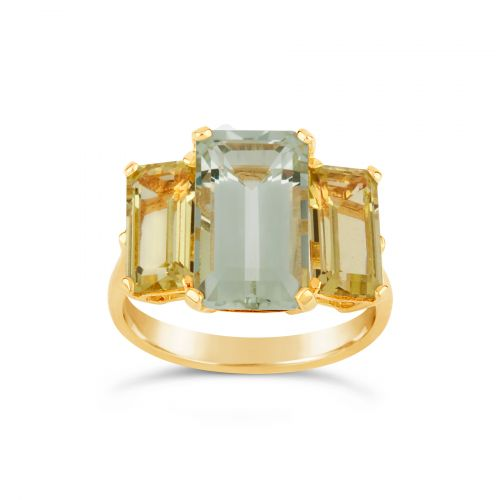 Large Green Amethyst Cocktail Ring