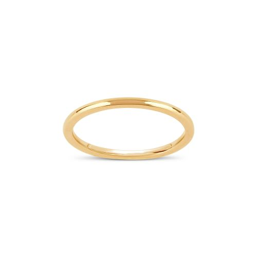 18K Gold Skinny Court Wedding Band