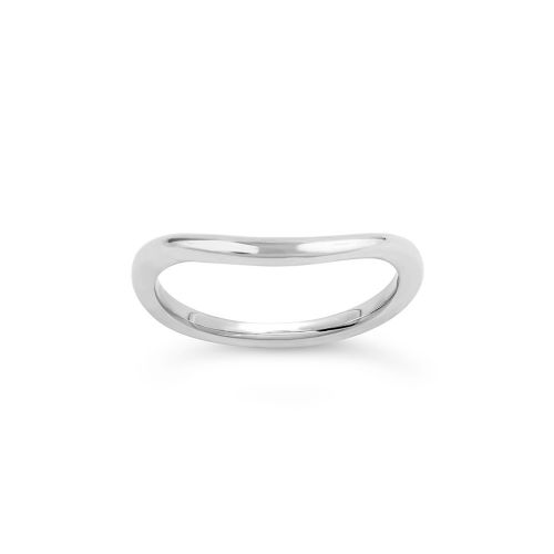 18K Gold Curved Court Wedding Band
