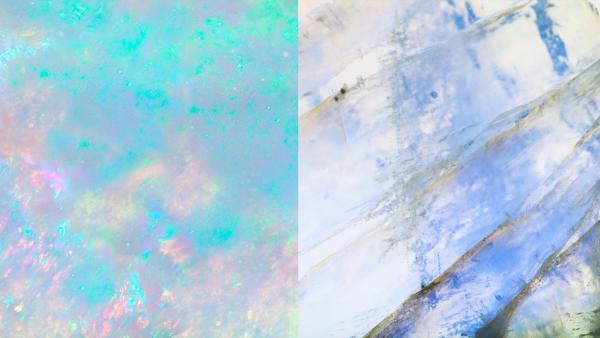 Iridescent Gemstones: Rainbow Moonstones & Opals
